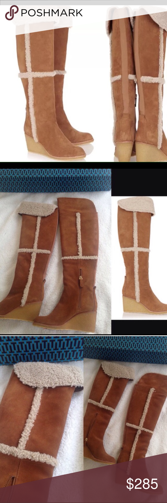 02a9208ce9827 New Tory Burch Cassius Shearling Boots Sz 6 and 7 BRAND NEW TORY BURCH  SHEARLING CASSIUS