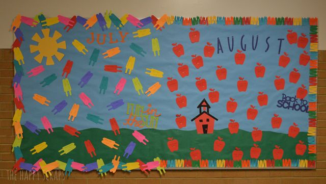12 Months Of Bulletin Board Ideas Events Back To School
