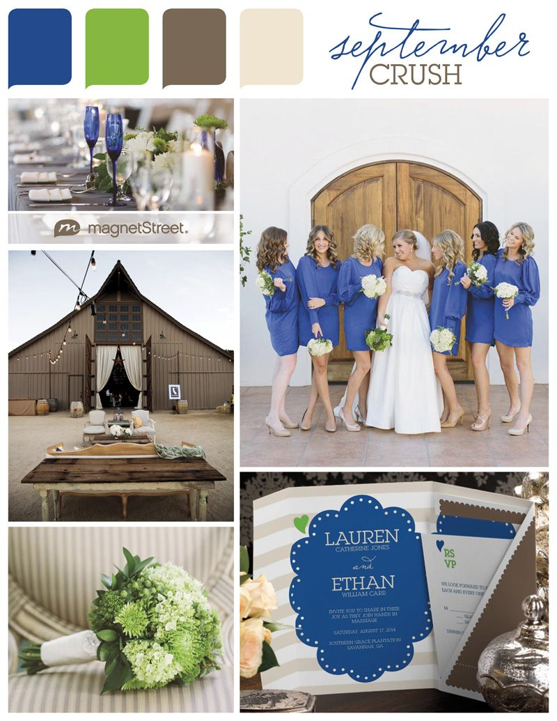 Color Monday A Cool September Wedding