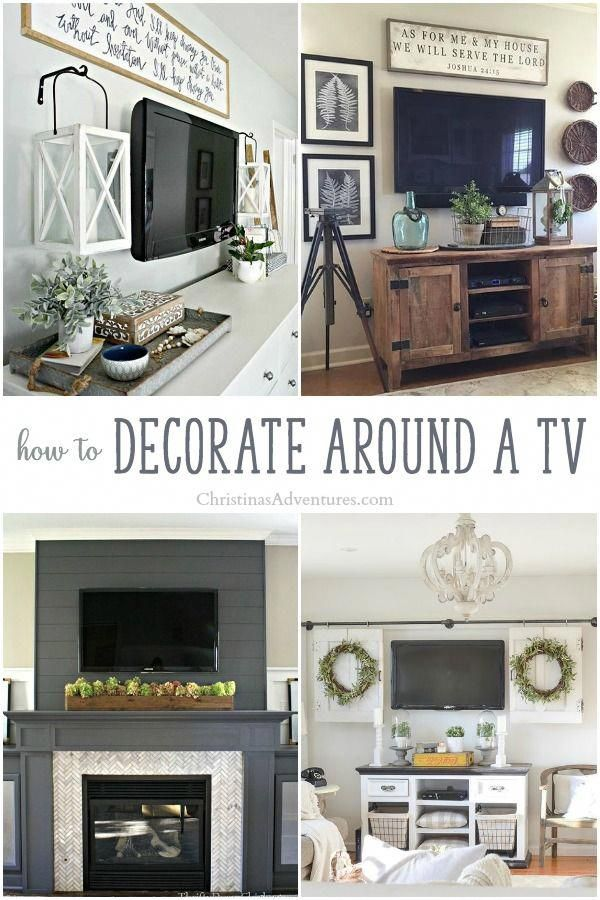 Genius ideas for how to decorate around  tv  lots of different decor also rh pinterest
