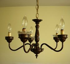 How To Transform An Outdated Brass Chandelier With Paint