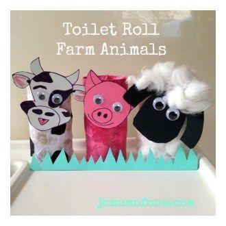 Toilet Roll Farm Animals Toddler Craft Toilet Roll Craft