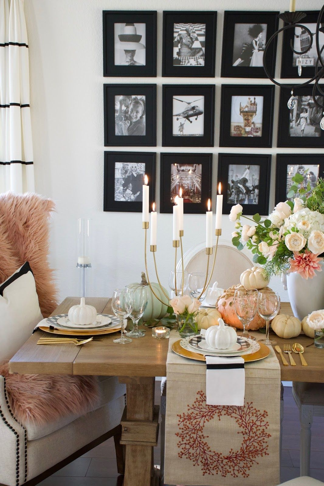 GLAMOROUS THANKSGIVING DINNER TABLE #thanksgivingdinnertable