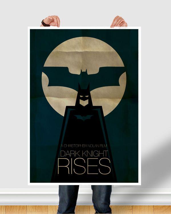 Batman Minimal Poster : Case Study by Richard Renda, via Behance