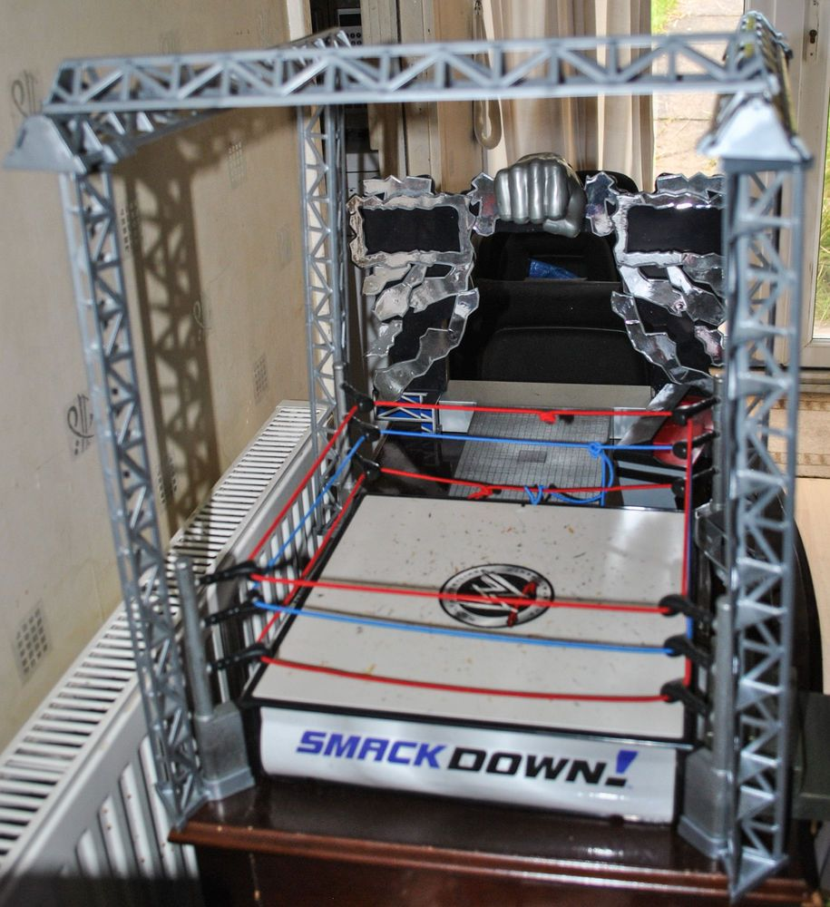 Wwe Wrestling Smackdown Arena Ring With Entrance Walkway And
