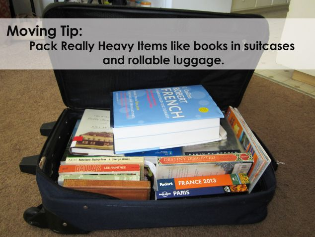 Pack Heavy Items Like Books In Suitcases This Is One Of My