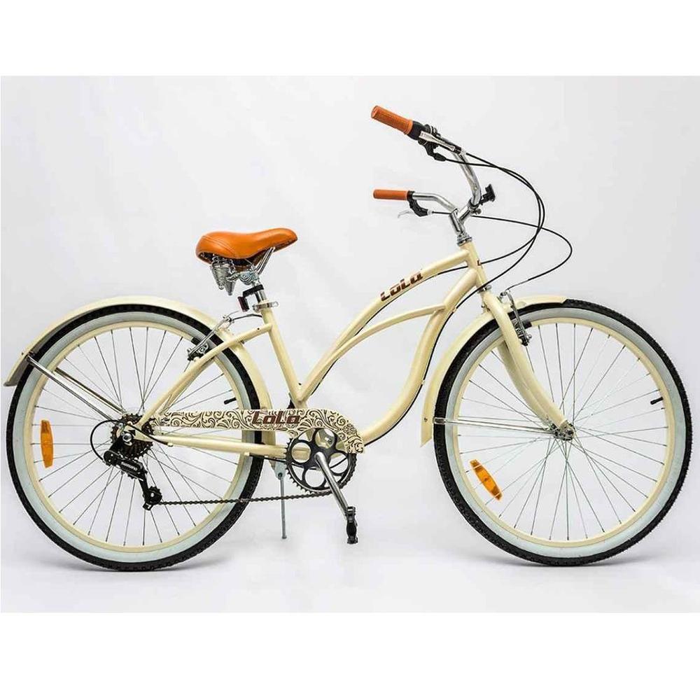 d2579841a Bicicleta Cruiser Aro 26 Feminina Lola Creme