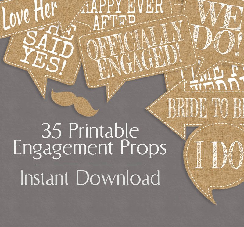 wedding photo booth props printable%0A    Rustic Engagement Photo Booth Prop Printables  Burlap Effect  Printable  photobooth rustic chic wedding