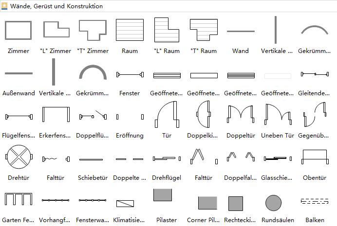 Symbole für Bauplanung | Grundriss Baupläne | Pinterest
