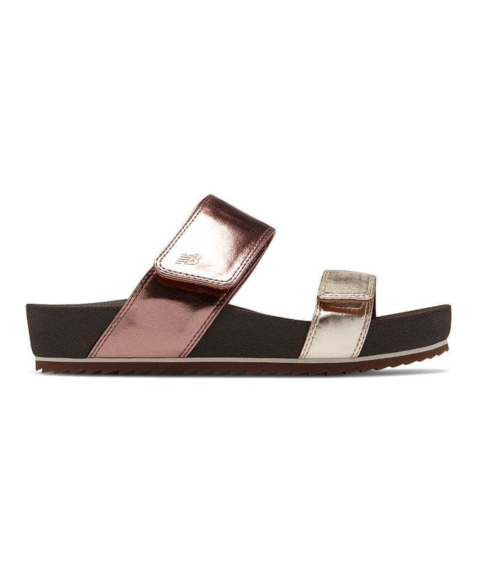 df29b1267 Take a look at this Rose Gold Two-Strap City Slide - Women today ...