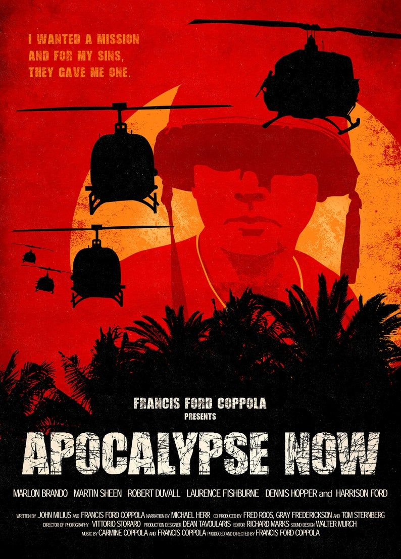 Classic Army Action Movie Wall Art Poster /& Canvas Pictures Apocalypse Now