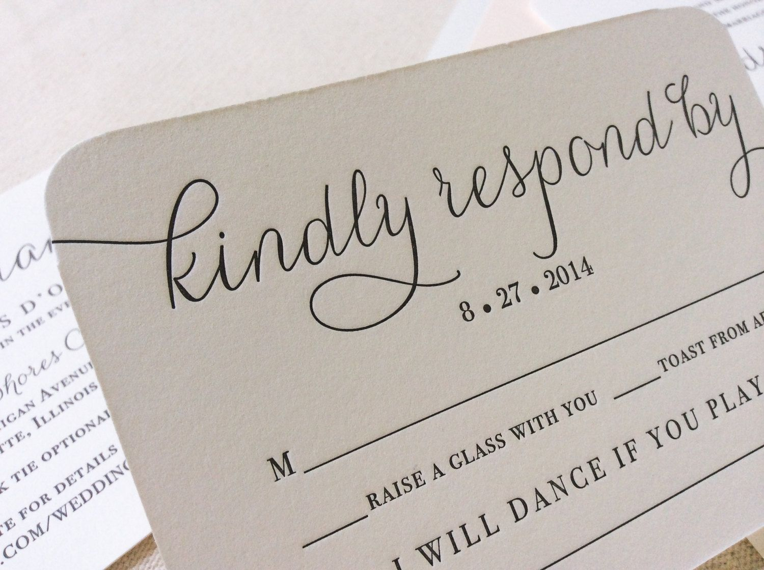 An RSVP card that doubles as a