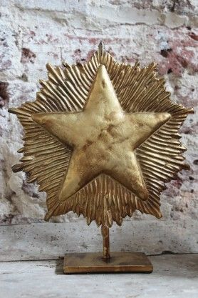 Golden Star on Stand
