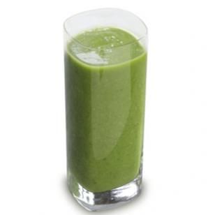 If you want to start eating clean, here's a good start to the day.  I promise you can't taste the veggies in it.  Molly-