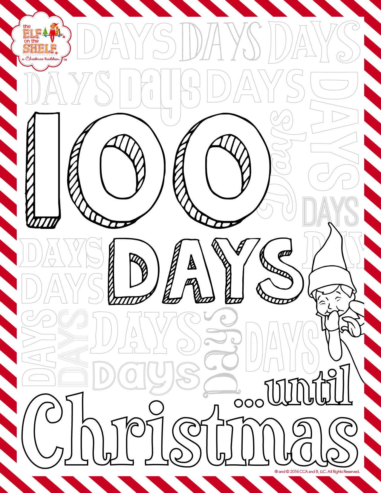 The Elf On The Shelf A Christmas Tradition Elf Crafts Awesome Elf On The Shelf Ideas Christmas Countdown Printable
