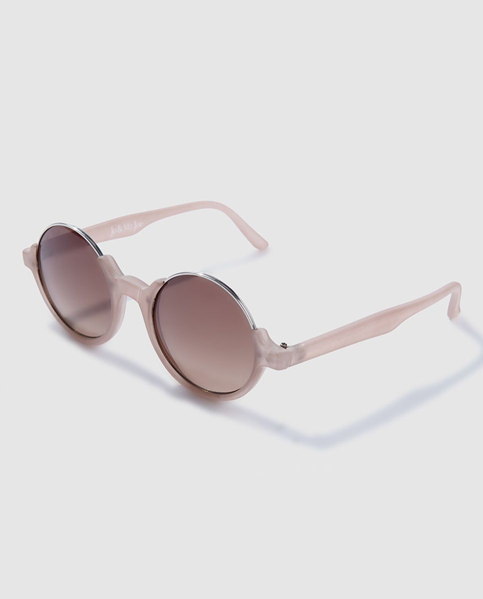 51ccf0f966 Gafas de sol redondas con montura en color rosa | Ropa | Gafas de ...