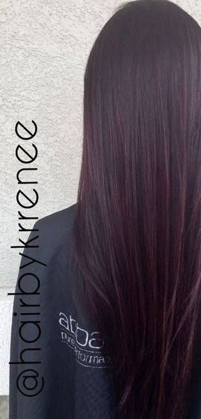Por Dark Brown Hair Color With Red Tint Party Picture In