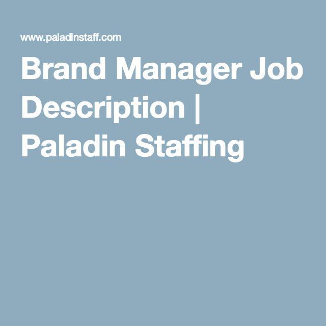 Resume CV Cover Letter digital marketing manager job description – Brand Manager Job Description