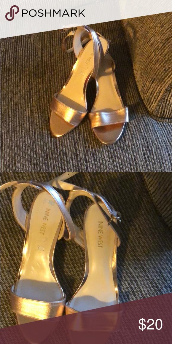 781bb0ce7d46 Women s Dress Rose gold color. Leather sandals Nine West Shoes Sandals