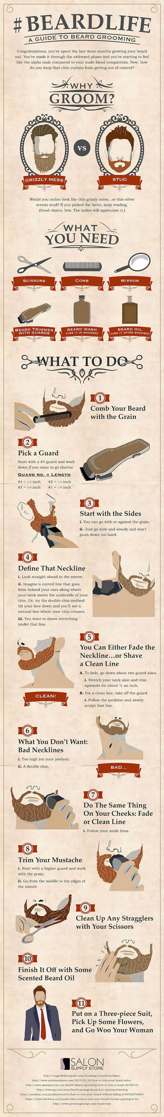 Infographic: A Handy Men's Guide To Keeping Your Beard Well-Groomed - DesignTAXI.com: