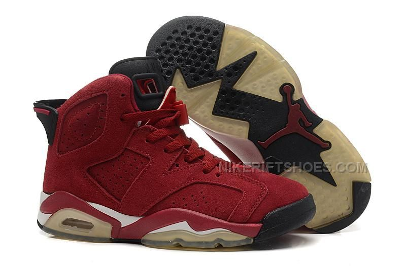 5d78eac9914a0 Womens Air Jordan 6 Wine Red-Black White
