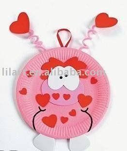 Paper Plate Valentine Monster Craft - cute  sc 1 st  Pinterest & Paper Plate Valentine Monster Craft - cute | Preschool Craft Ideas ...