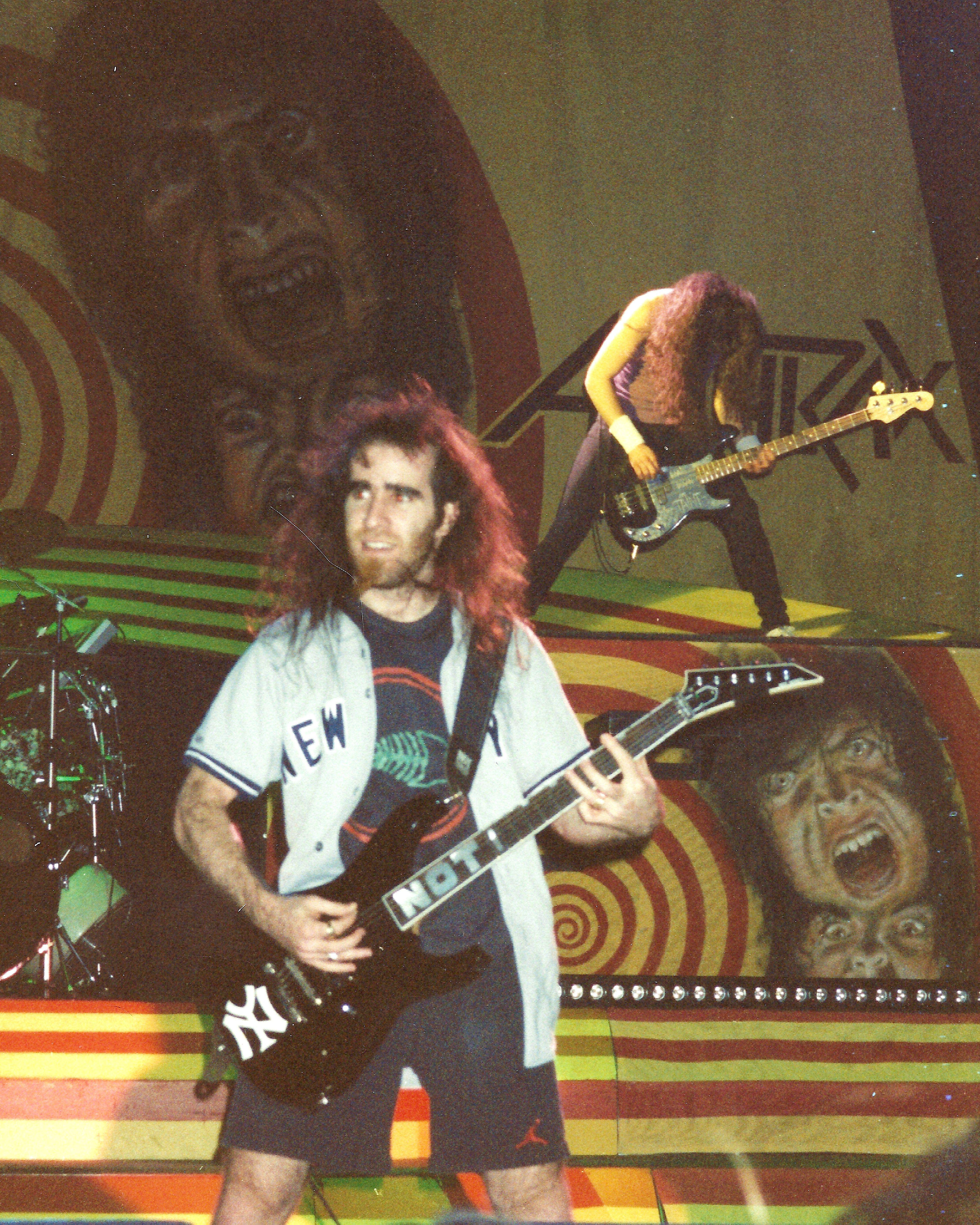 """Anthrax's Scott """"Not"""" Ian: http://everyrecordtellsastory.com/2012/07/09/gig-souvenirs-merchandise/#"""