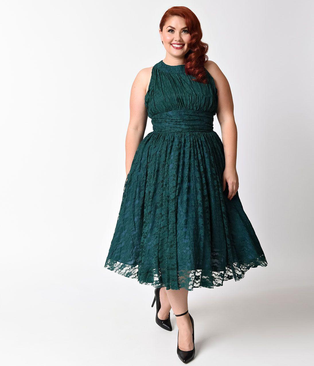 Plus Size Lace Vintage Dress