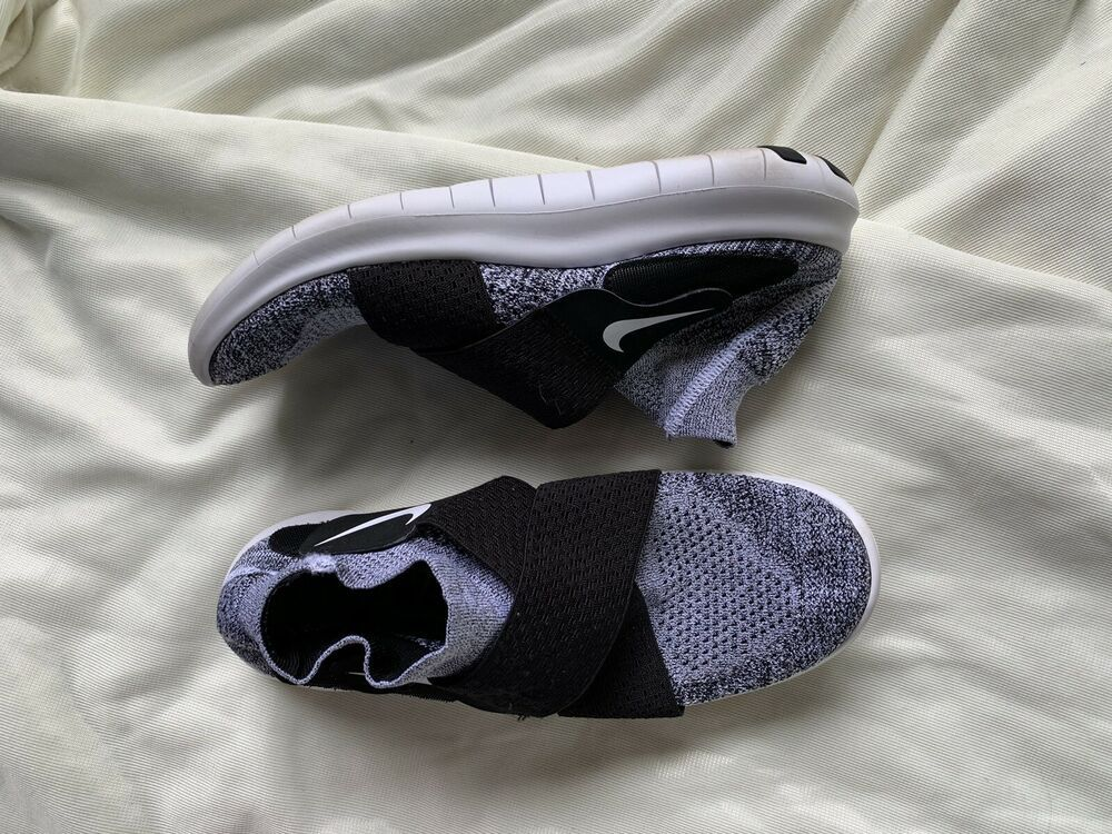 Womens Nike Free Grey And Black RN Flyknit 2017 Running