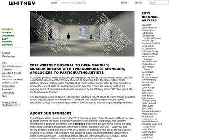 Grupo ligado ao movimento Occupy Wall Street falsifica site da bienal do museu Whitney de Nova York