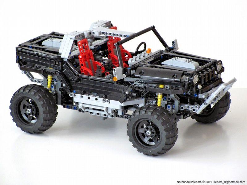 Jeep Hurricane Lego Creations Lego Truck Lego Technic Truck