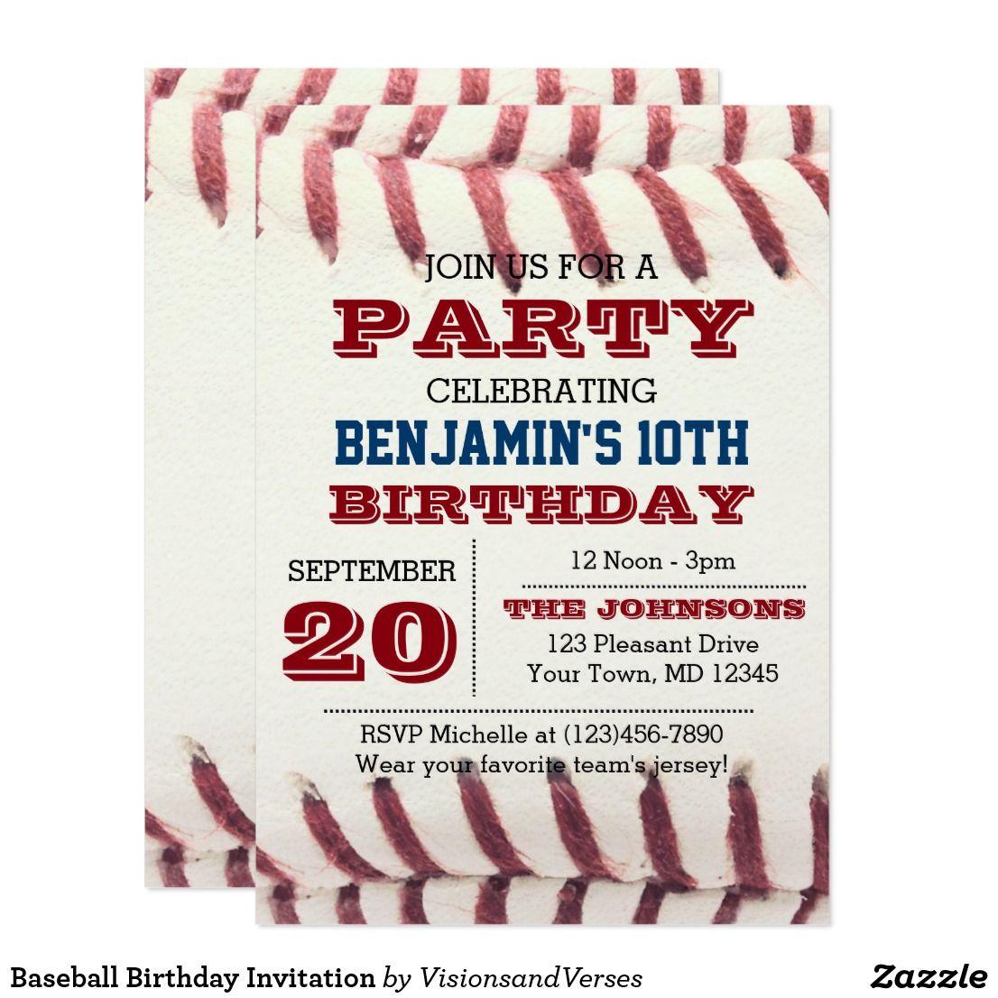 Baseball Birthday Invitation | Baseball birthday invitations and ...