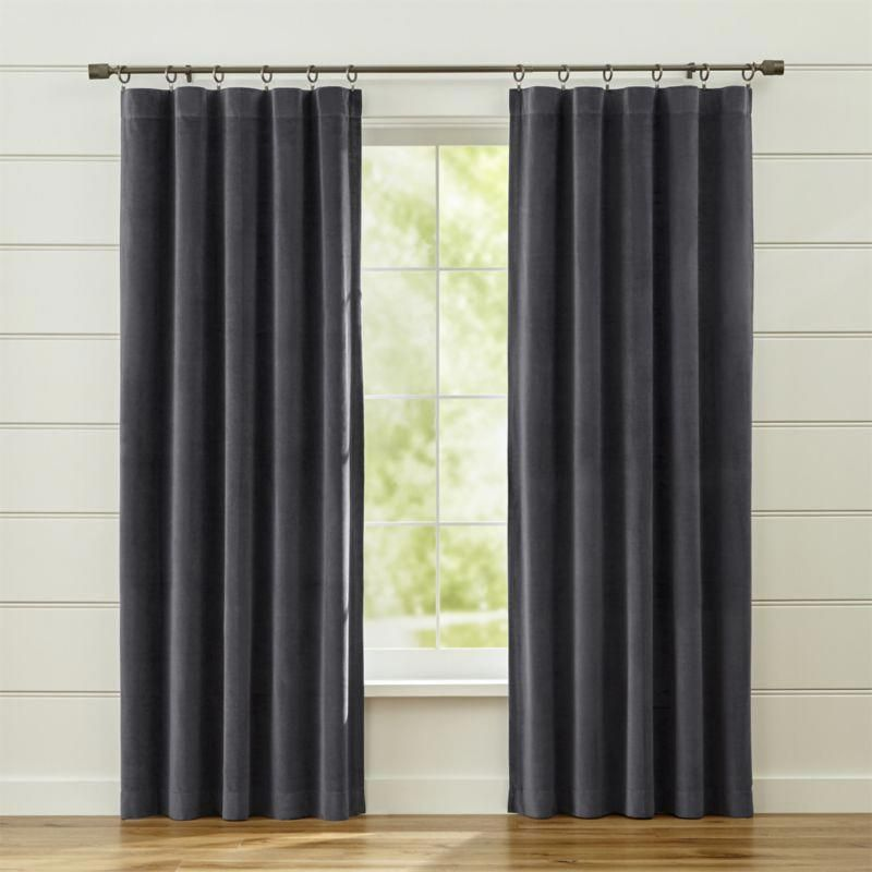 Shop Windsor Dark Grey Curtains Luxurious Dark Grey Velvet