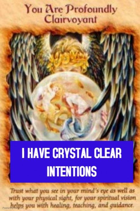 Crystal clear intentions