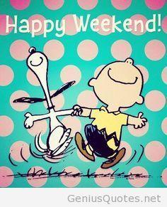 Funny happy weekend cartoon quote  Quotes  Pinterest  Funny happy, Happy w...