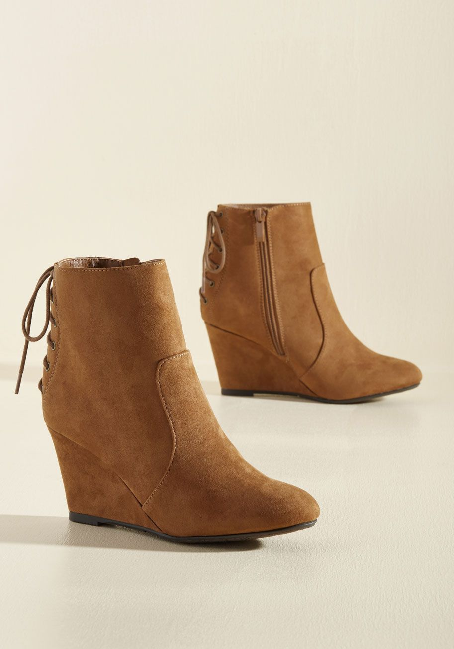 ab98f80d6d72 Strut s the Big Idea  Bootie. Do you think you have the know-how to rock  these vegan-friendly booties   brown  modcloth