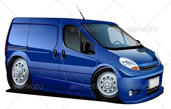 Cartoon Delivery Van Vector Image On S Izobrazheniyami Transport