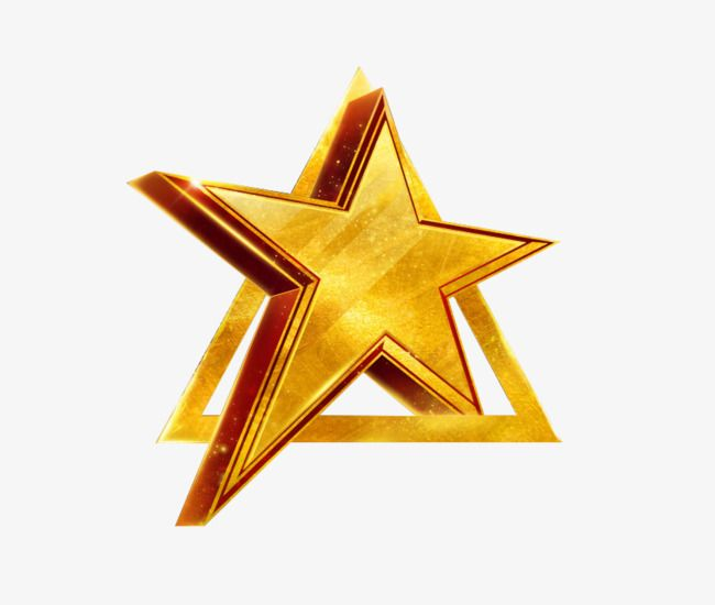 Golden Stereo Stars Gold Star Clipart Star Dimensional Png Transparent Clipart Image And Psd File For Free Download Star Clipart Certificate Design Template Stars