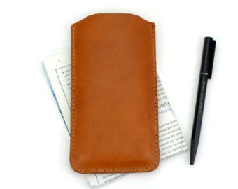 Natural leather iPhone sleeve. best iphone cases от DHKgoods
