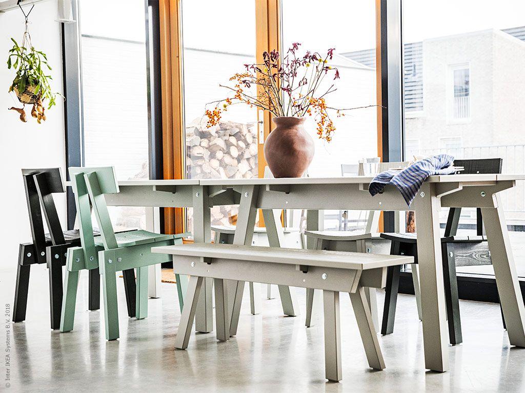 INDUSTRIELL bord, INDUSTRIELL stol, INDUSTRIELL bänk | Ikea