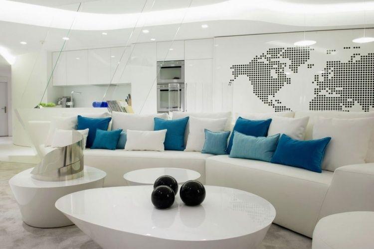 Awesome Wohnzimmer Deko Turkis Braun Photos - House Design Ideas ... Wohnzimmer Weis Turkis