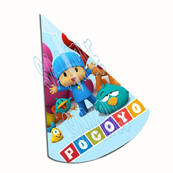 Pocoyo Party Hat Template To Cut And Assemble  By Partyoverhere