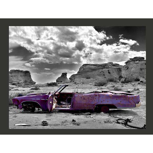 East Urban Home Colorado Desert Vintage Car 154cm X 200cm