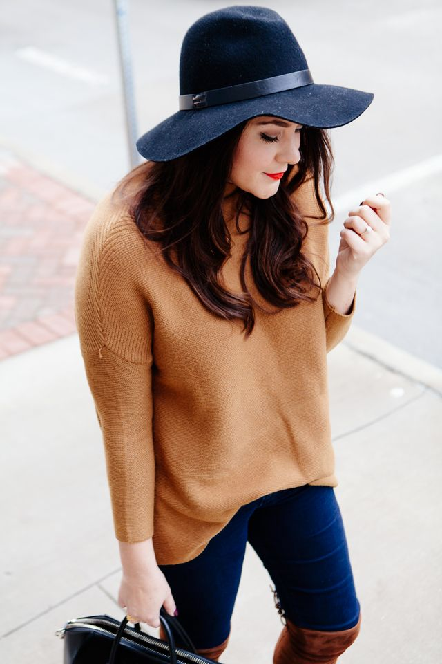 Add a hat for a little extra this season. #trends