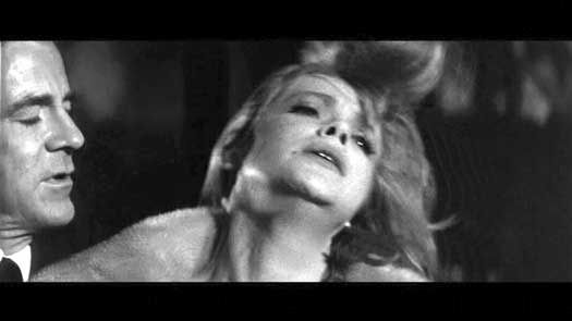 """This is Anne Francis being tortured (mentally) by her mean husband, played by Dana Andrews. Both give memorable performances in """"Brainstorm."""""""