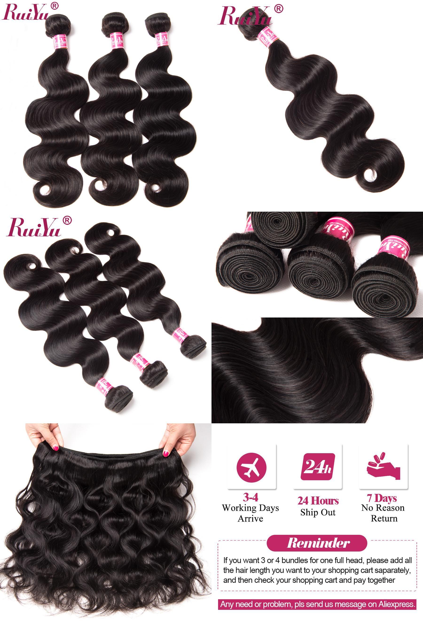 Visit To Buy Ruiyu Hair Brazilian Body Wave 100 Human Hair Weave