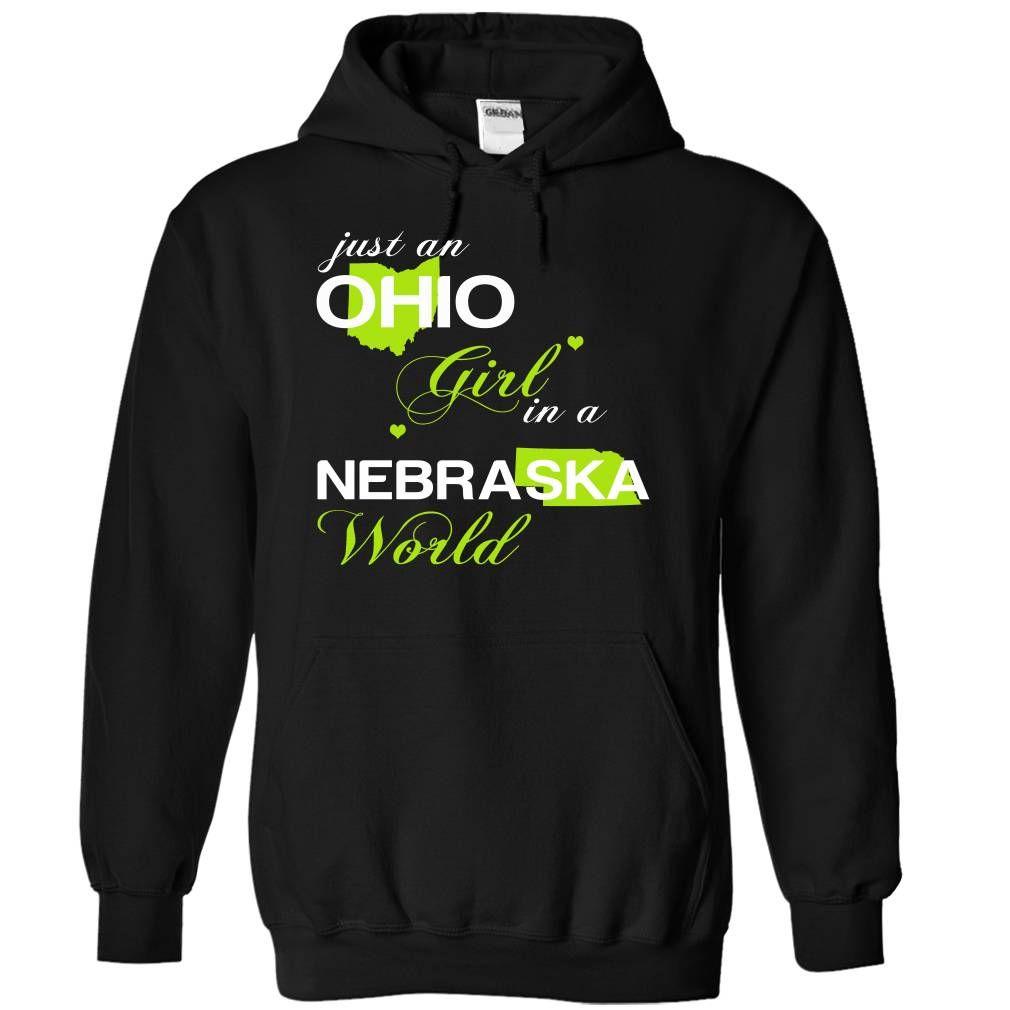 (OHJustXanhChuoi001) Just ⊹ An Ohio Girl In A Nebraska WorldIn a/an name worldt shirts, tee shirts