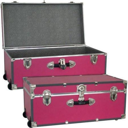 Foot Locker Storage Chest Custom College Dorm Dormitory Wheeled Storage Trunk Luggage Footlocker Decorating Design