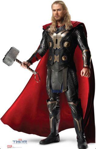 Thor 2 The Dark World Chris Hemsworth Lifesize Standup Cardboard Cutouts Allposters Com Marvel Thor The Dark World Thor 2