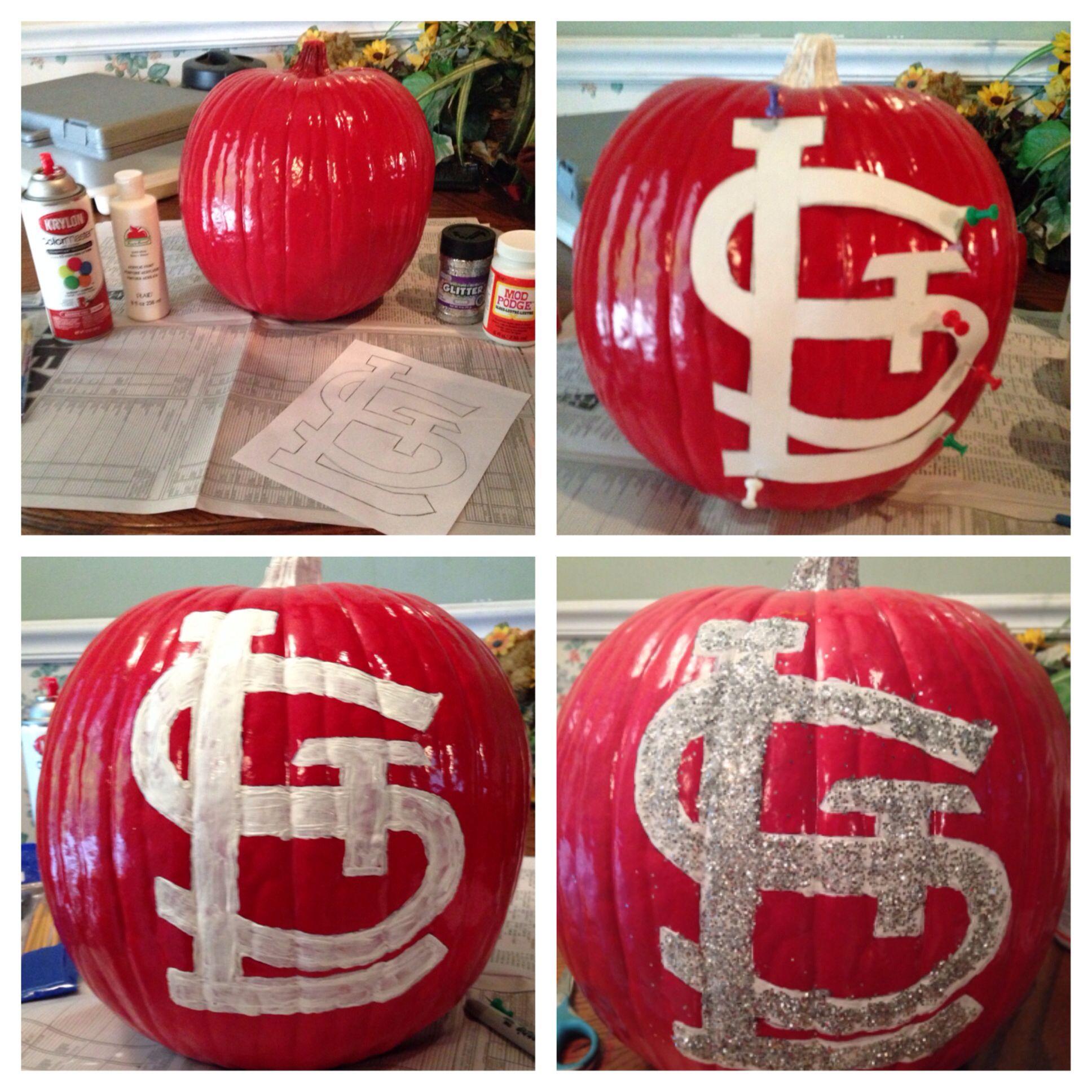 Diy St Louis Cardinals Decorative Pumpkin